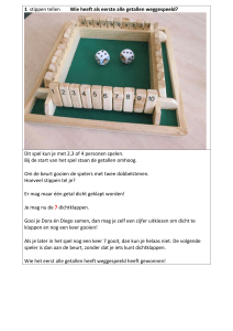 Handleiding Shut The Box