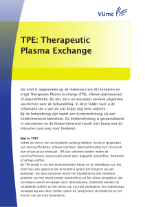 TPE: Therapeutic Plasma Exchange