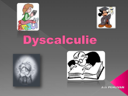 Calculie - Dyscalculie.org