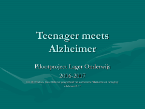 Teenager meets Alzheimer 2 feb 2017