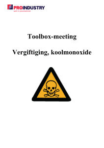Toolbox-meeting Vergiftiging, koolmonoxide