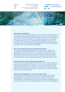 Privacy - Contactgroep Automatisering