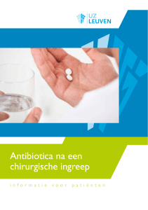 Antibiotica na een chirurgische ingreep