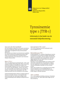 Tyrosinemie type 1