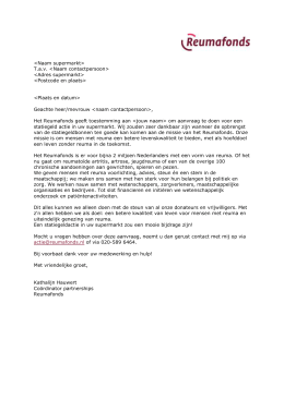 Brief van Reumafonds