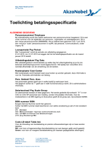 Toelichting betalingsspecificatie