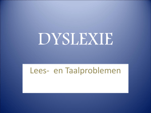 dyslectie - Stichting Taalhulp website over dyslexie