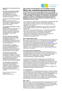 Factsheet - Expertisecentrum Mantelzorg