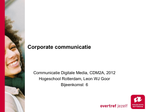 PowerPoint Presentation - Communicatie Digitale Media