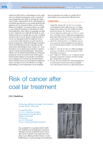 Risk of cancer after coal tar treatment