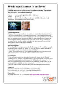 Astrologie workshop Irma van Wijk