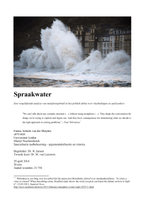 Spraakwater - Universiteit Leiden