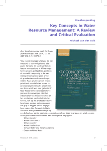 Key concepts in water resource management, a review and critical