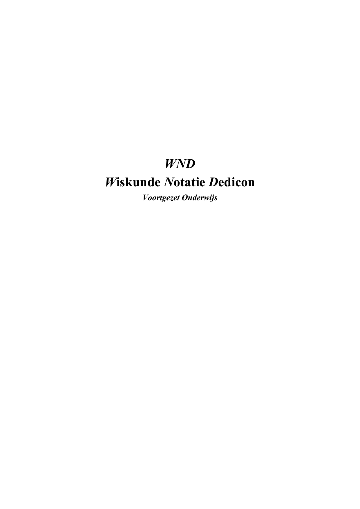 Wiskunde Notatie Dedicon