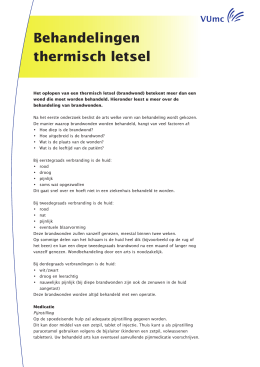 Behandelingen thermisch letsel