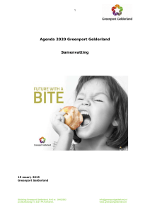 Agenda 2020 Greenport Gelderland Samenvatting