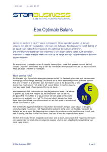 Een Optimale Balans