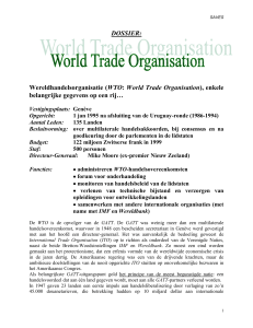 Wereldhandelsorganisatie (WTO: World Trade