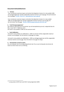 Document behandeltarieven