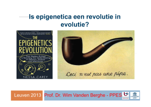 Is epigenetica een revolutie in Is epigenetica een