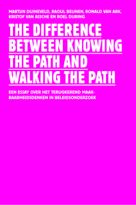 The difference beTween knowing The paTh and walking The paTh
