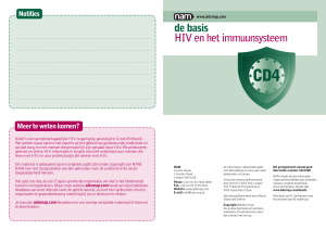 de basis HIV en het immuunsysteem