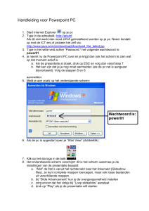Handleiding voor Powerpoint PC Start Internet Explorer op je pc