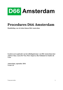 Procedures D66 Amsterdam