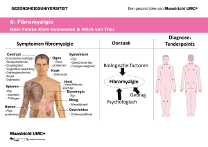 Symptomen fibromyalgie Diagnose: Tenderpoints Oorzaak