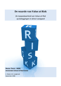 The Value of `Value at Risk` (Dutch) (PDF Available)
