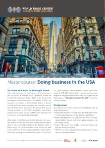 Mastercourse: Doing business in the USA