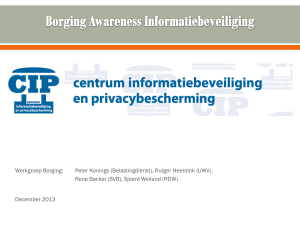 Borging awareness informatiebeveiliging
