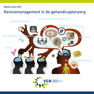 Kennismanagement in de gehandicaptenzorg