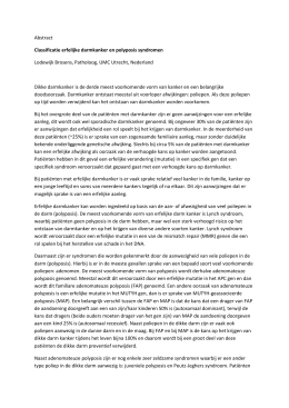 Abstract Classificatie erfelijke darmkanker en polyposis syndromen