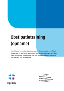 Obstipatietraining (opname)