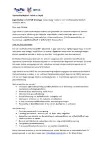 Traineeship Medisch Technicus (M/V). Logic Medical en het UMC