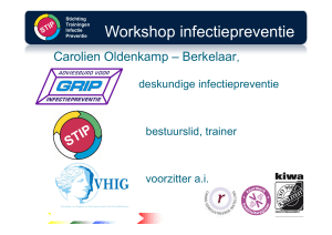 Workshop infectiepreventie