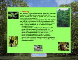 bedreiging voor het tropisch regenwoud