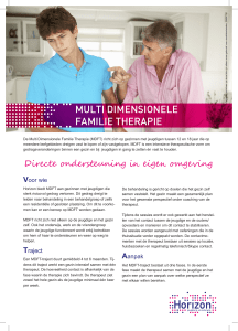 multi dimensionele familie therapie