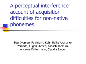 A perceptual interference account of acquisition difficulties