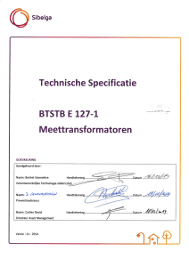 BTSTB E 127-1 Technische specificaties