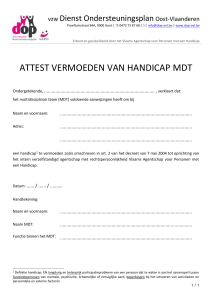 icon-edit Attest Vermoeden van Handicap MDT