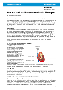 Wat is Cardiale Resynchronisatie Therapie