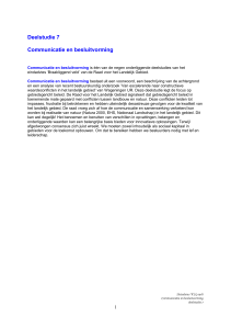 Deelstudie 7 Communicatie