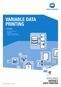 variable data printing