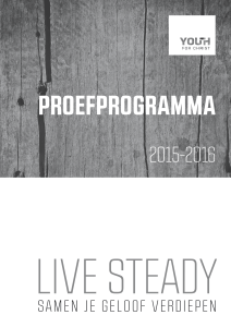Live Steady Proefprogramma - Youth for Christ