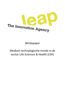Whitepaper Medisch technologische trends in de sector Life