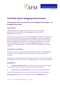 Toelichting register beleggingsondernemingen