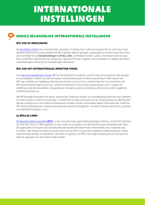internationale instellingen