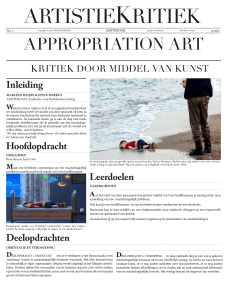 appropriation art - Breitner Academie